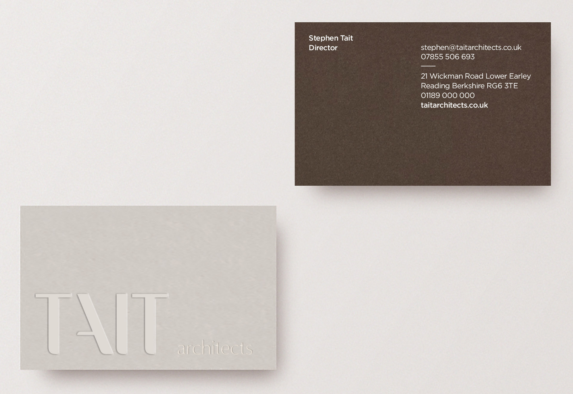 Architects-Berkshire-Branding-Tait-Business-card
