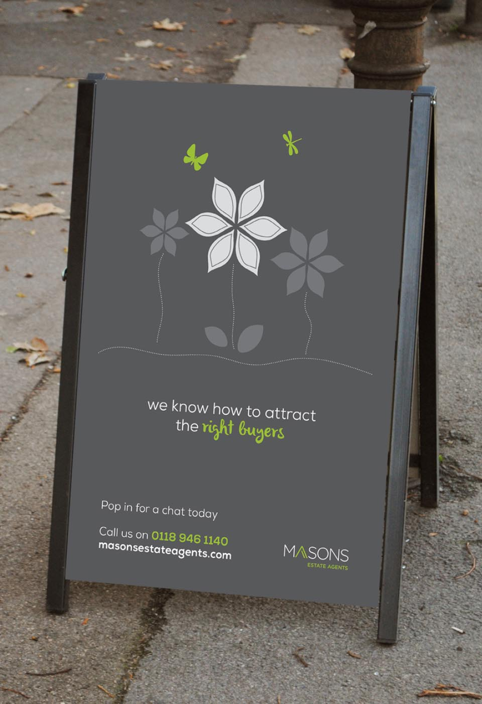 Masons-Estate-Agents-Advertising-Campaign-Reading-Website-A-board