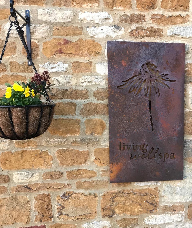 Butterscotch-Homefield-Grange-branding-corten-spa-signage